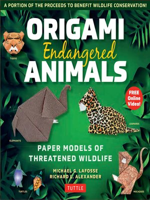 cover image of Origami Endangered Animals Ebook