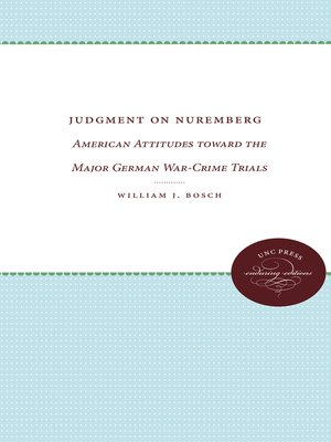 cover image of Judgment on Nuremberg