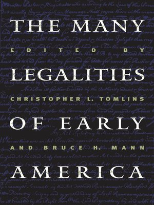 cover image of The Many Legalities of Early America