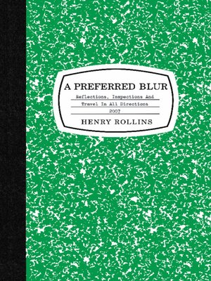 cover image of A Preferred Blur