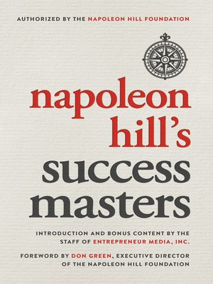 cover image of Napoleon Hill's Success Masters