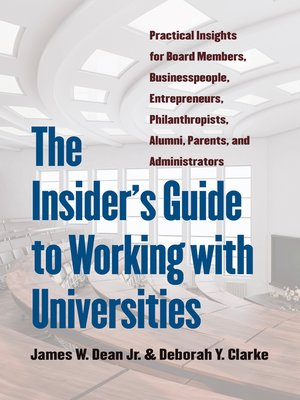 cover image of The Insider's Guide to Working with Universities