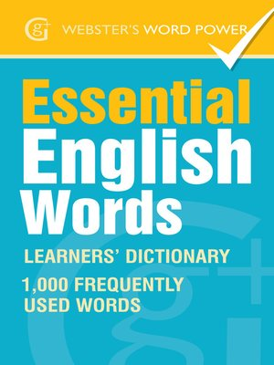 cover image of Webster's Word Power Essential English Words