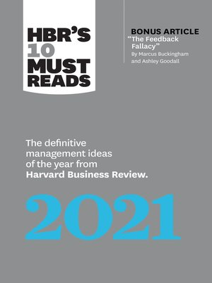 cover image of HBR's 10 Must Reads 2021