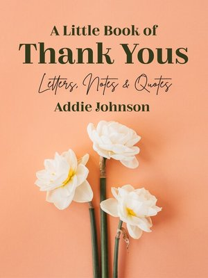 cover image of A Little Book of Thank Yous
