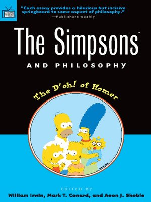 cover image of The Simpsons and Philosophy
