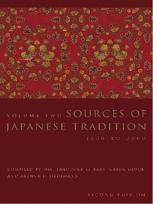 cover image of Sources of Japanese Tradition