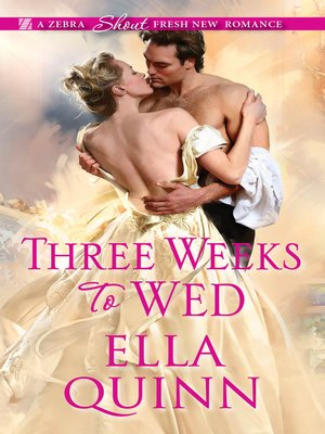 cover image of Three Weeks to Wed