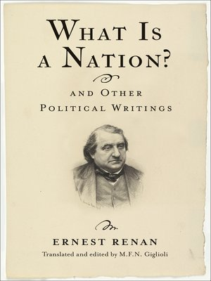 cover image of What Is a Nation? and Other Political Writings