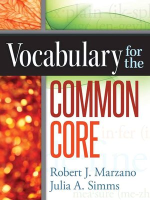 cover image of Vocabulary for the Common Core