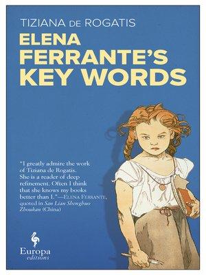 cover image of Elena Ferrante. Key Words