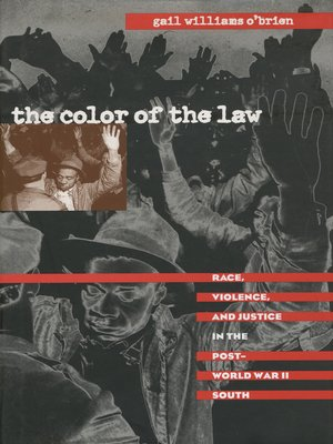 cover image of The Color of the Law