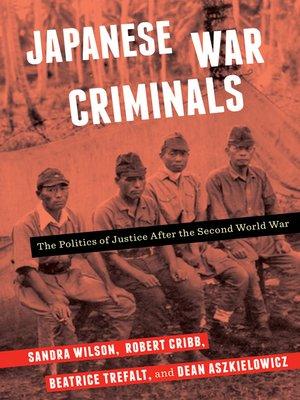 cover image of Japanese War Criminals