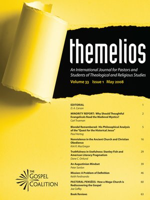 cover image of Themelios, Volume 33, Issue 1