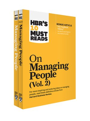 cover image of HBR's 10 Must Reads on Managing People 2-Volume Collection
