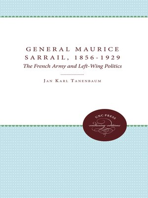cover image of General Maurice Sarrail, 1856-1929