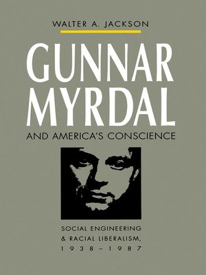cover image of Gunnar Myrdal and America's Conscience