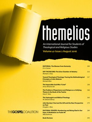 cover image of Themelios, Volume 41, Issue 2