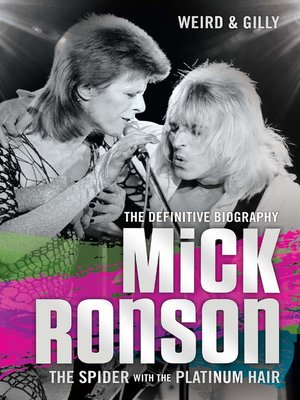 cover image of Mick Ronson--The Spider with the Platinum Hair