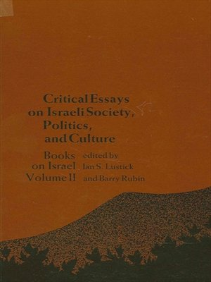 cover image of Critical Essays on Israeli Society, Religion, and Government