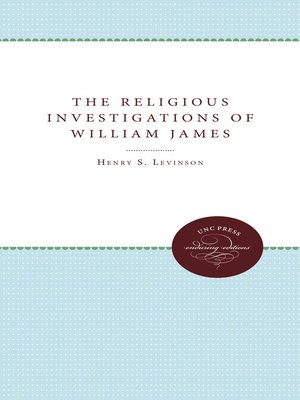 cover image of The Religious Investigations of William James