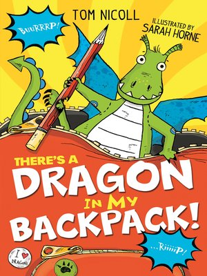 cover image of There's a Dragon in my Backpack!