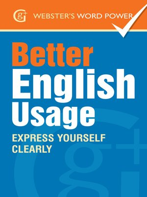 cover image of Webster's Word Power Better English Usage