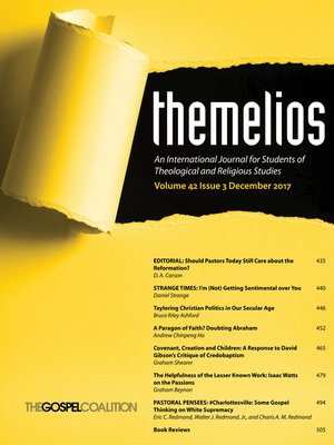 cover image of Themelios, Volume 42, Issue 3