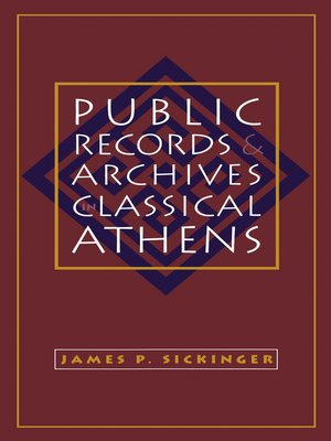 cover image of Public Records and Archives in Classical Athens