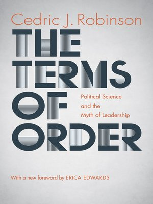 cover image of The Terms of Order