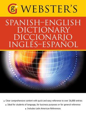 cover image of Webster's Spanish-English Dictionary/Diccionario Ingles-Espanol