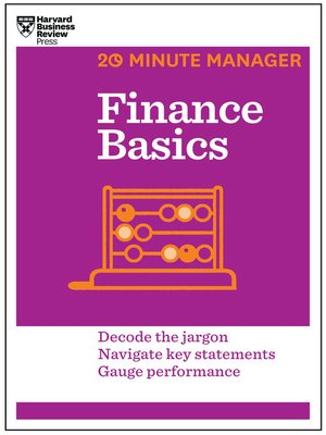 cover image of Finance Basics (20-Minute Manager Series)
