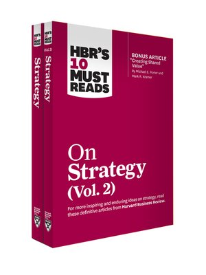cover image of HBR's 10 Must Reads on Strategy 2-Volume Collection