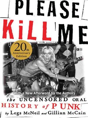 cover image of Please Kill Me