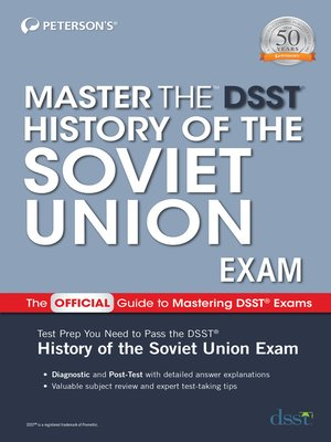 cover image of Master the DSST History of the Soviet Union Exam