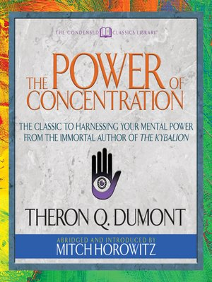 cover image of The Power of Concentration