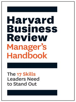 cover image of The Harvard Business Review Manager's Handbook