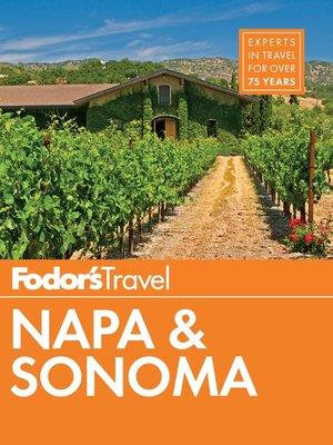 cover image of Fodor's Napa & Sonoma