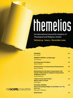cover image of Themelios, Volume 34, Issue 3
