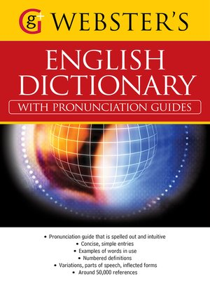 cover image of Webster's American English Dictionary (with pronunciation guides)