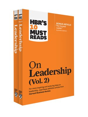 cover image of HBR's 10 Must Reads on Leadership 2-Volume Collection