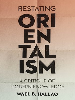cover image of Restating Orientalism