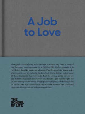 cover image of A Job to Love