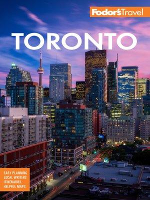 cover image of Fodor's Toronto