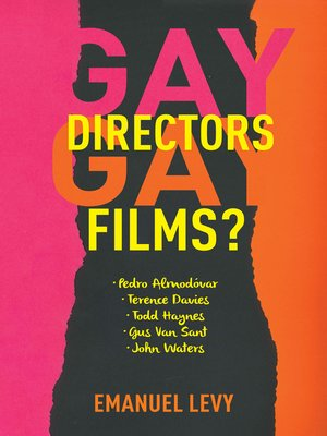 cover image of Gay Directors, Gay Films?