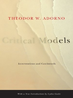 cover image of Critical Models