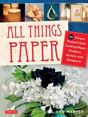 cover image of All Things Paper