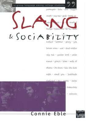 cover image of Slang and Sociability