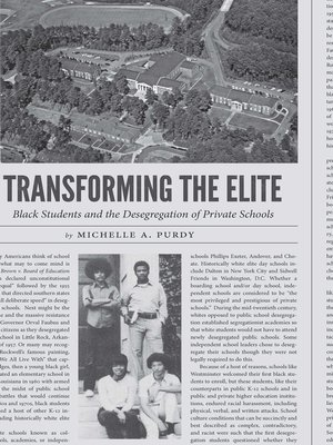 cover image of Transforming the Elite