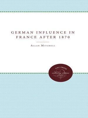 cover image of The German Influence in France after 1870